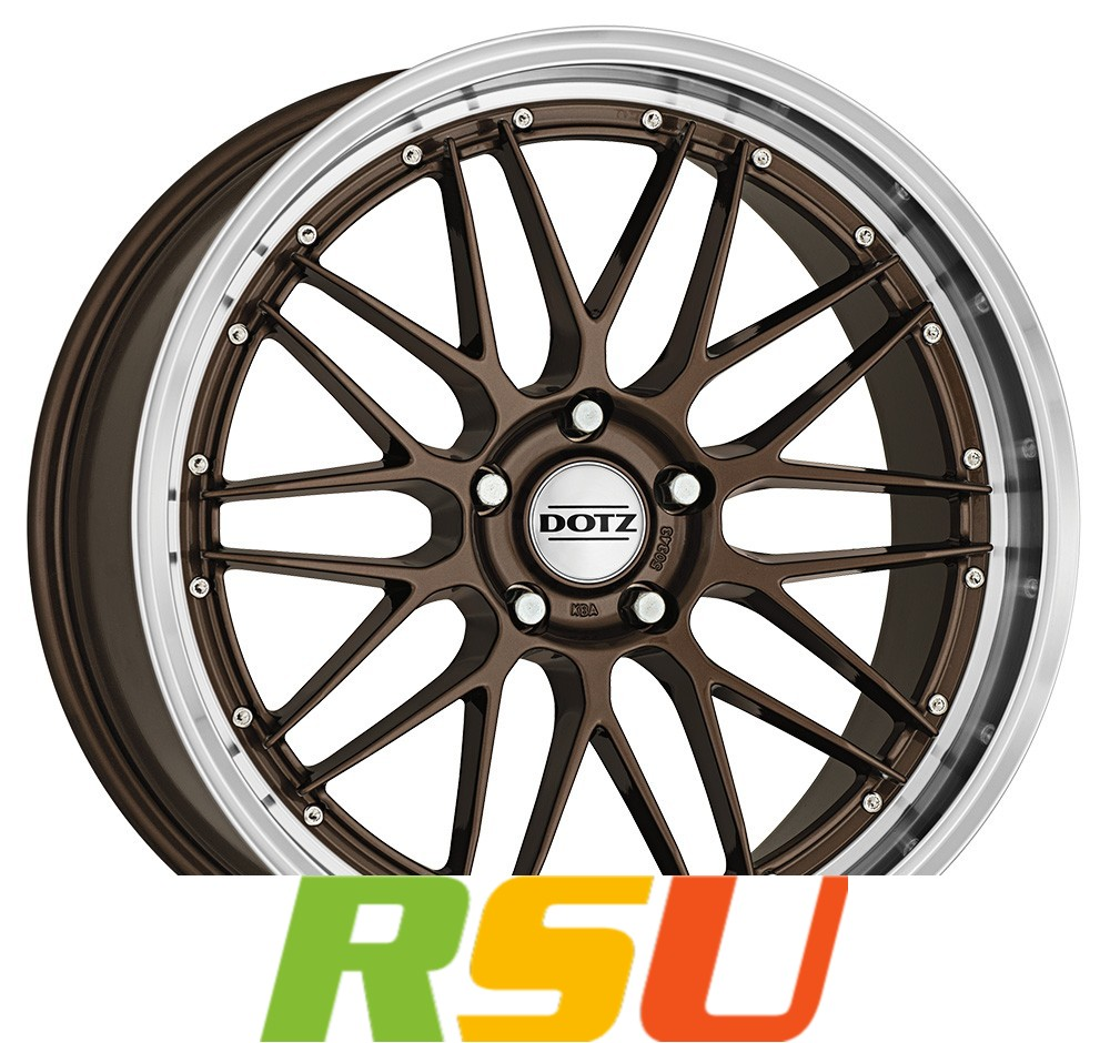 "1x Dotz Revvo bronze/polished lip 8x18"" ET35 LK5 120 ML 72.6 Alufelgen 18 Zoll"